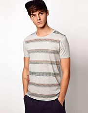 ASOS T-Shirt With Aztec Stripe Print