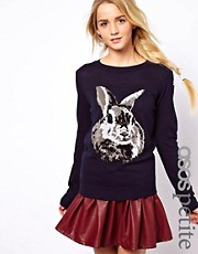 ASOS PETITE Exclusive Rabbit Sweater