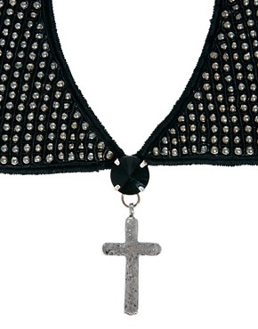 Image 3 ofASOS Beaded Collar &amp; Cross Necklace