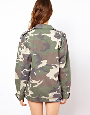 Image 2 ofGlamorous Studded Camo Jacket