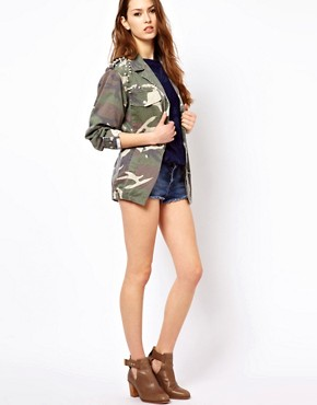 Image 4 ofGlamorous Studded Camo Jacket