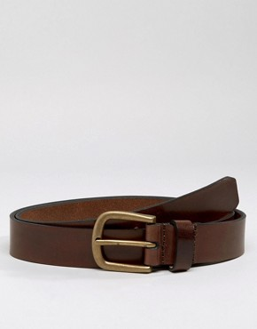 Royal RepubliQ Limit Double Prong Leather Belt In Brown