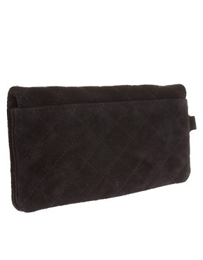 Image 2 ofASOS Leather Quilted &amp; Stud Purse