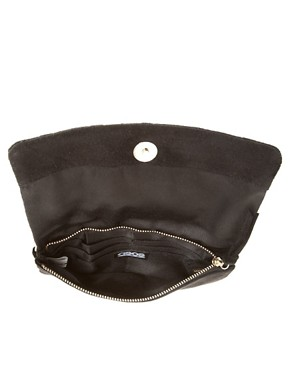 Image 4 ofASOS Leather Quilted &amp; Stud Purse