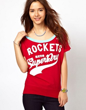 Image 1 ofSuperdry Burnout Football T-Shirt