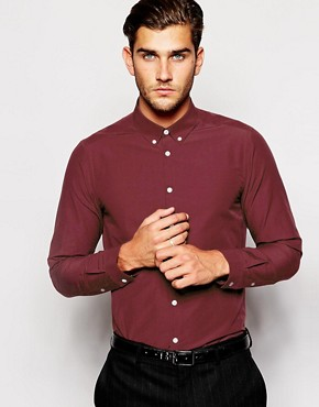ASOS Smart Shirt With Long Sleeves And Button Down Collar
