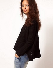 ASOS Boxy Jumper In Textured Stitch