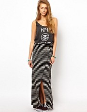 Stussy Striped Maxi Skirt