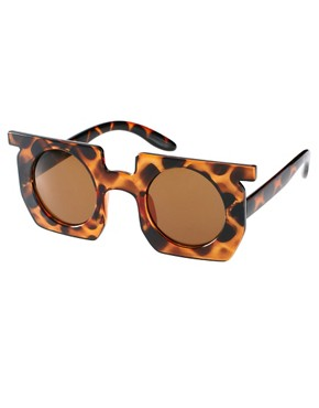 Image 1 of ASOS Square Sunglasses With Round Lens