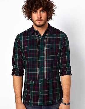 Image 1 ofDenim &amp; Supply Ralph Lauren Check Tuxedo Shirt