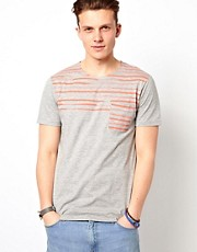 Esprit T-Shirt With Stripe Pocket