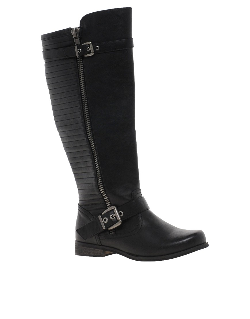 Image 1 of River Island Ridged Knee High Boots