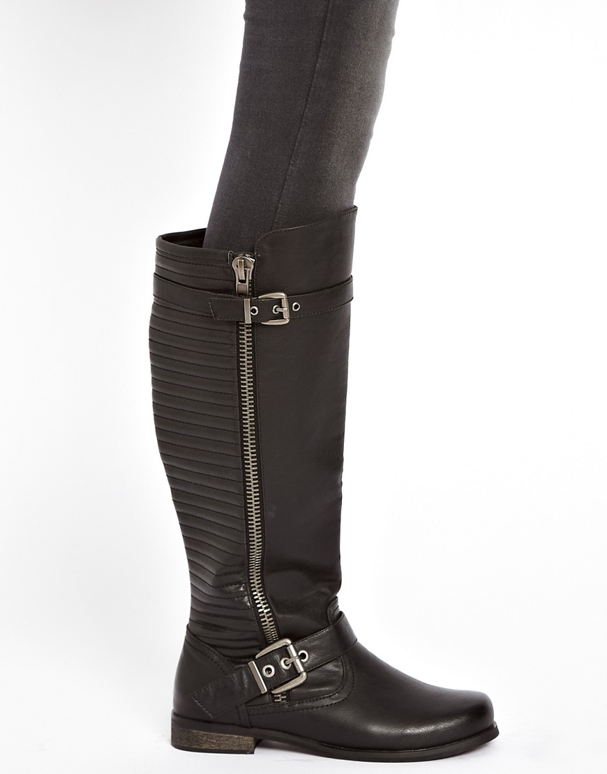 Image 3 of River Island Ridged Knee High Boots