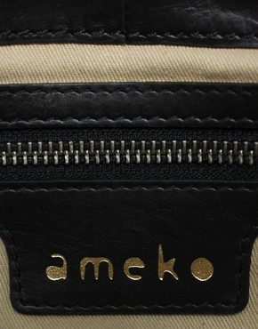 Image 4 of Ameko Parker Leather Zip Top Tote Bag
