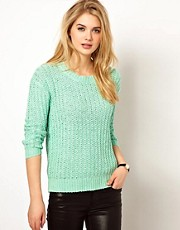 Mango Weave Knit Sweater