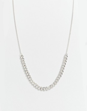 Fleur East By Lipsy Silver Curb Chain Collar Necklace