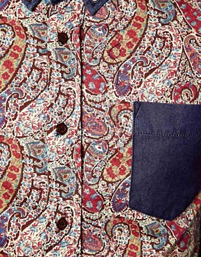 Image 3 ofApril 77 Ace Shirt with Paisley Printed