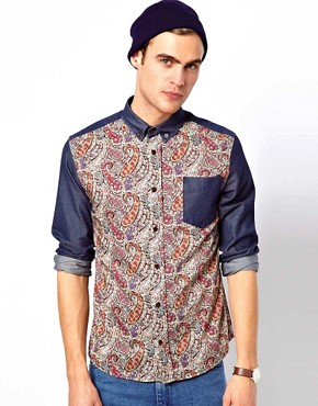 Image 1 ofApril 77 Ace Shirt with Paisley Printed