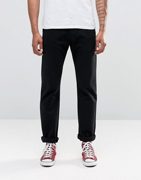 Image 1 ofLevis Jeans 501 Straight Fit Black