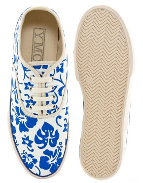 Image 3 ofYMC Printed Plimsolls