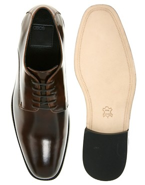 Image 3 ofASOS Derby Shoes With Leather Sole