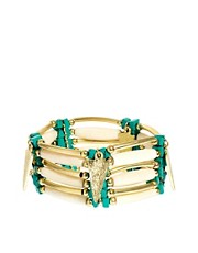 River Island Bar And Turquoise Stretch Bracelet