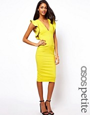 ASOS PETITE Pencil Dress with Ruffle Sleeve