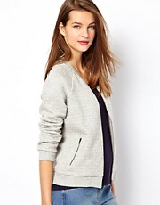 Whistles Quilted Jersey Bomber Jacket
