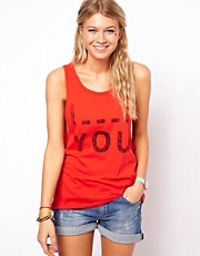 ASOS Vest with &#39;I Blank You&#39; Print