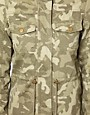 Image 3 ofVila Camo Jacket with Drawstring Waist