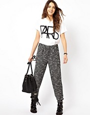 ASOS Peg Trousers in Textured Fabric