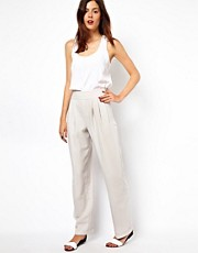ASOS Trousers In High Waist and Loose Fit