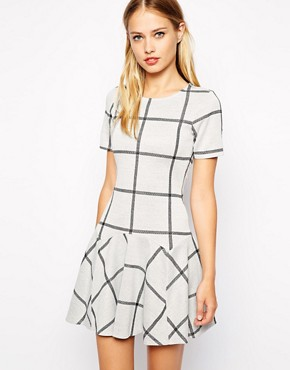 Image 1 of Warehouse Check Jacquard Flippy Dress