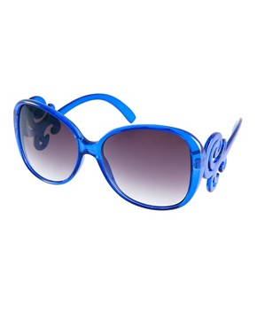 Image 1 ofASOS Oversized 70s Sunglasses With Filgree Arm Detail