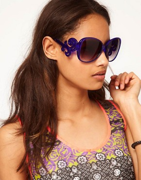 Image 3 ofASOS Oversized 70s Sunglasses With Filgree Arm Detail