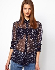 Equipment Silk Star Print Shirt