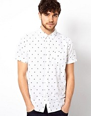 Brave Soul Skull Print Shirt