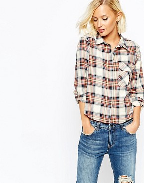 River Island Check Shirt With Pocket Detail