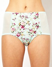 ASOS Boudoir Cotton Floral High Waisted Pant