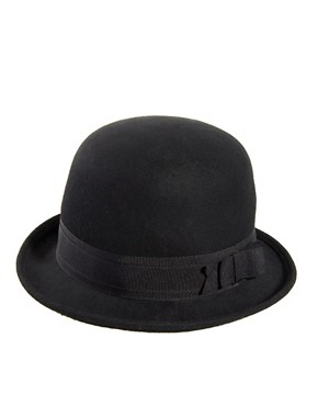Image 4 ofASOS Felt Roll Brim Bowler