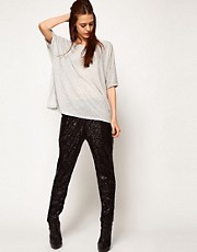 Just Female Sequin Tapered Trouser