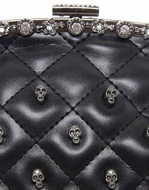 Image 4 ofLiquorish Bag With Skull Studs