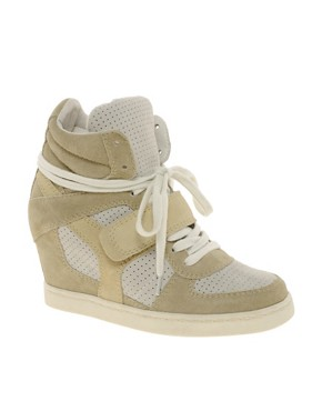 Image 1 ofAsh Cool Suede Colourblock Strapped Wedge Trainers