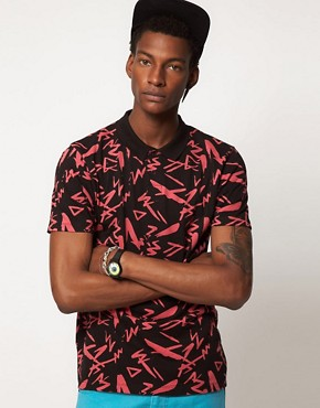 Image 1 ofASOS Polo With All Over Print