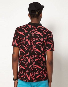 Image 2 ofASOS Polo With All Over Print