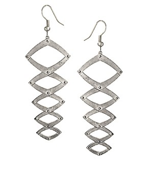 Image 1 ofHouse Of Harlow 1960 Geometric Dangle Earrings
