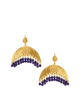 Image 1 of Ottoman Hands Crescent Earrings