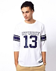 Stussy &ndash; #13 Football &ndash; T-Shirt mit 3/4-rmeln