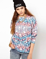 Illustrated People Kaleidoscope Digital Print Sweatshirt