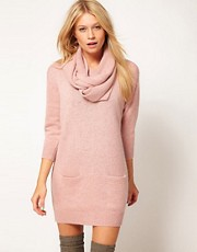 ASOS Jumper Dress With Matching Snood